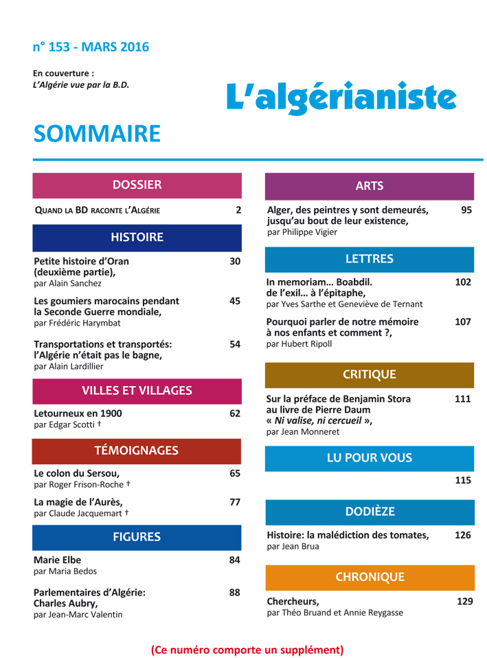 153 Sommaire