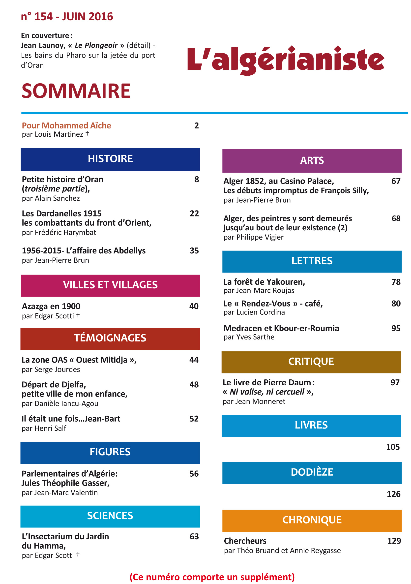 154 Sommaire