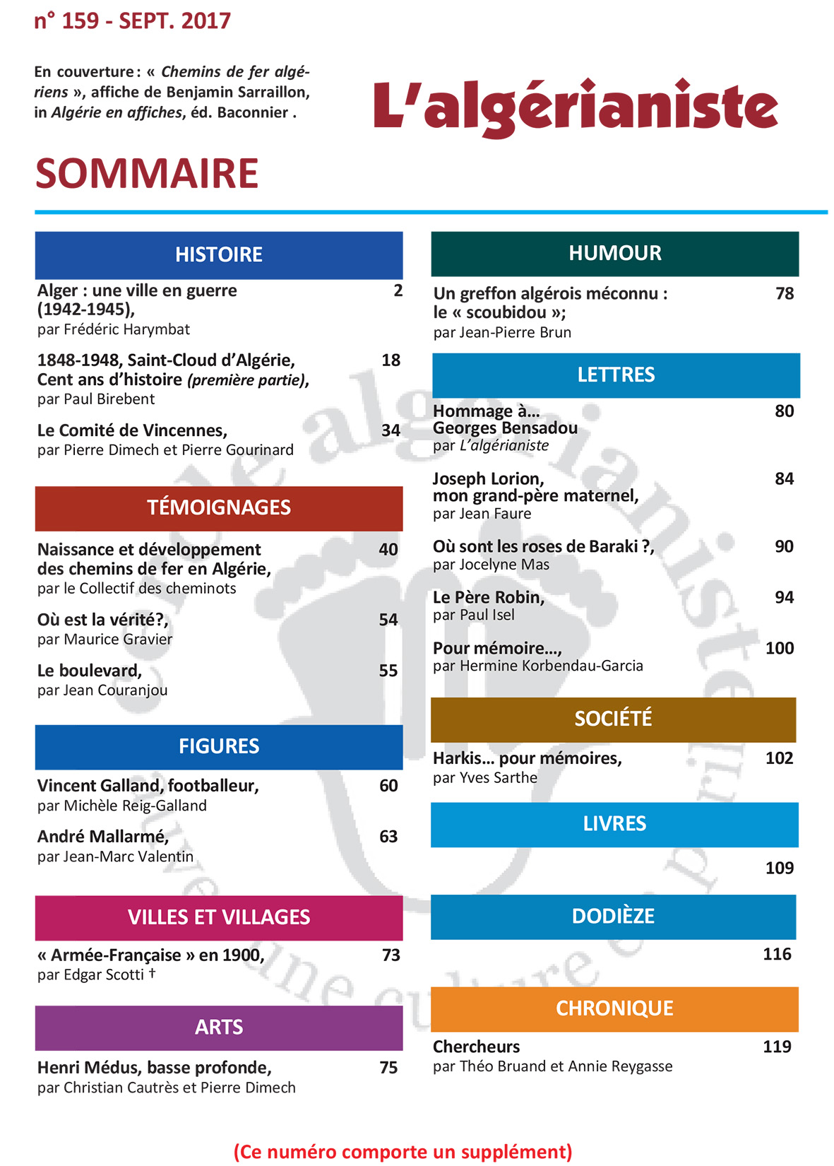 159 Sommaire
