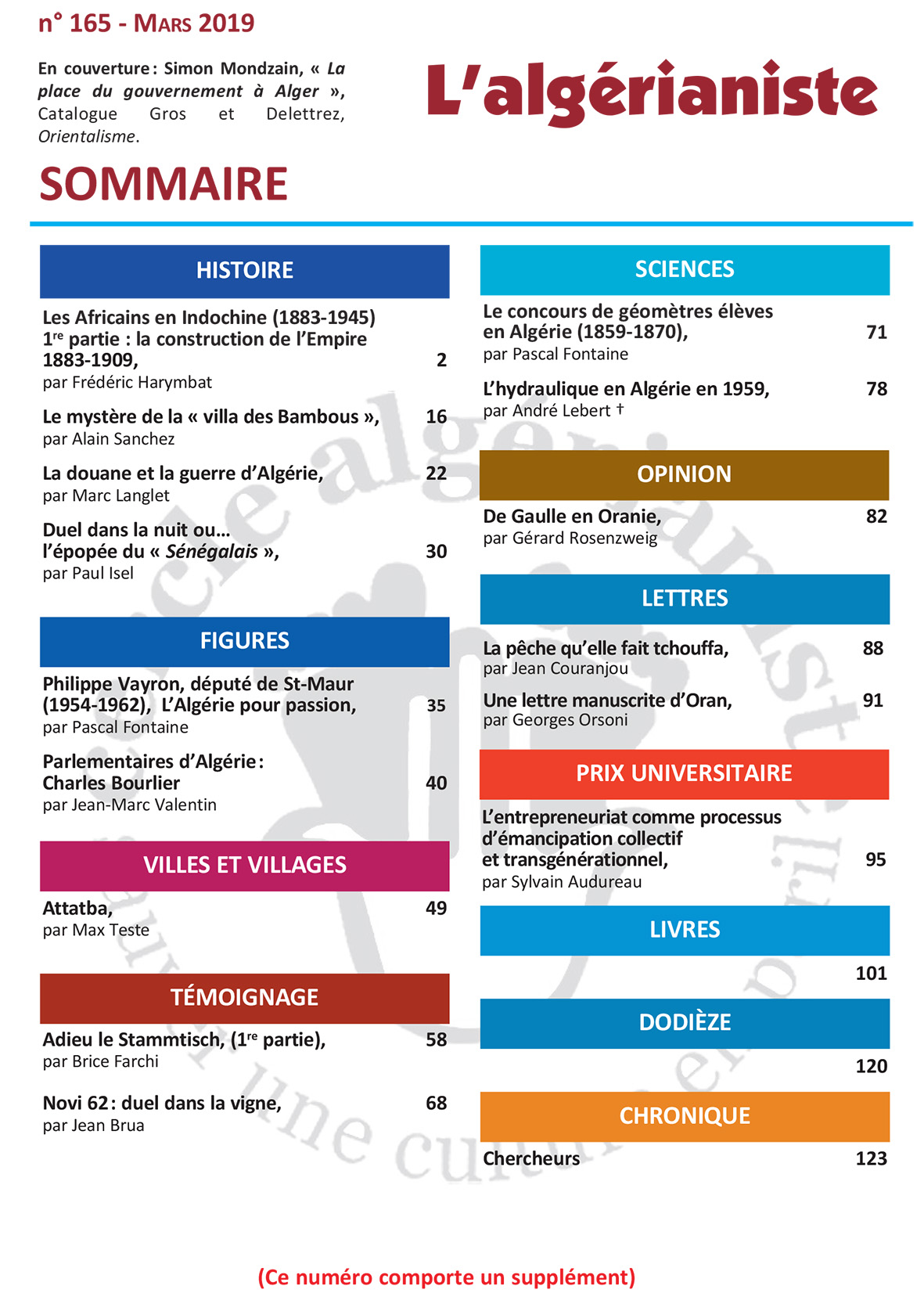 165 Sommaire